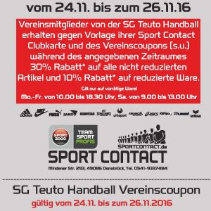 Sport Contact Aktion 24.11 – 26.11.